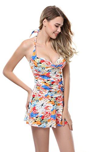 Ivy Shi Damen schön Padded Badekleid Strandkleid Badeanzug Einteilig ...