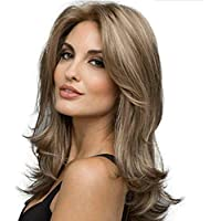 Wig Parrucca Sintetica a Medio e Lungo Volume per Donna Parrucca Cosplay  Parte Centrale Fibra Resistente 0822caa1244b