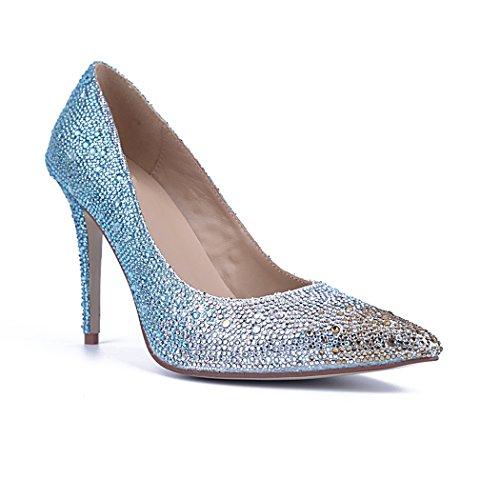 Minitoo , Sandales Compensées femme Bleu - bleu