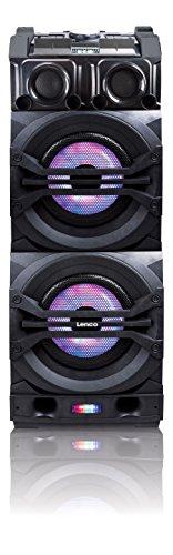 Lenco PA-Anlage PMX-350, DJ-Mixer, Licht-Effekten, Bluetooth, USB, Radio, Gitarren-Anschluss, Mikrofon