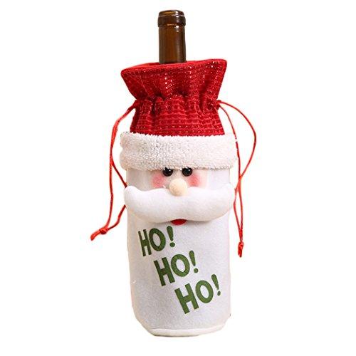 htswein-Flaschen-Abdeckung Drawstring-Beutel Beutel-Weihnachtsmann-Schneemann-Ren für Party-Dekor size Weihnachtsmann (Machen Sie Halloween-süßigkeiten-taschen)