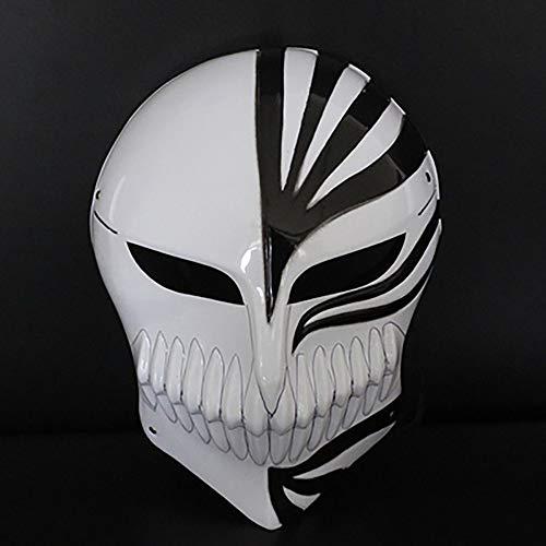 QXFJ Halloween Masken,Leuchten Maske Helm Cosplay Maske Vollgesichtsmaske V-Vendetta Ghost Dance Street Dance Maske MäNner Und Frauen Luminous Fluorescent Horror Death Mask Clown