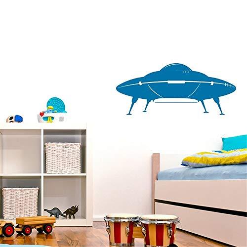stickers muraux fée clochette Soucoupe volante Ufo On Ground Alien pour chambre d'enfant chambre de garçon
