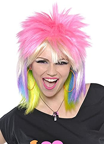 Punk Rock Chick Rainbow 1980's Adult's Wig