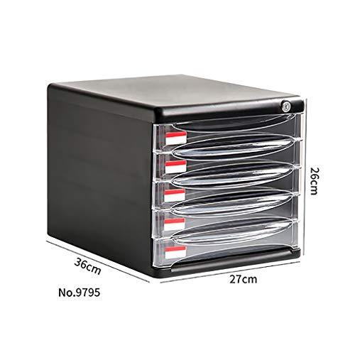 QSJY File Cabinets Armadi archivio Armadietto Porta Documenti, cassetto Estraibile da Tavolo con Chiusura a Chiave Organizer per Ufficio (in plastica) 27 * 36 * 26CM