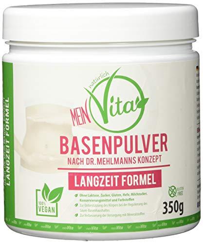 MeinVita Basenpulver, Dr.Mehlmann Konzept - Langzeit Formel - Stoffwechsel - Zink - Magnesium - Calcium - 100{2fa78ba2ef17d2804c338adc1ba37dbf0e85bf413bdceb6ed3c1b7e8c66950bc} Vegan (350 g)