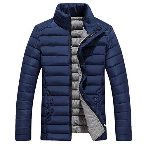 Odjoy-fan-giubbotto da taschino per uomo con cerniera invernale il tempo libero-tinta unita manica lunga cappotto di cotone -cappotto cotone piumino cappuccio antivento inverno giacca