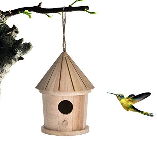 SAMTITY Nichoir en Bois Hôtel accroché de Maison d'oiseau de nouveauté, nid d'oiseau en Bois accrochant la Cage en Bois Normale d'oiseau de Lieu de Repos en Bois pour des Oiseaux