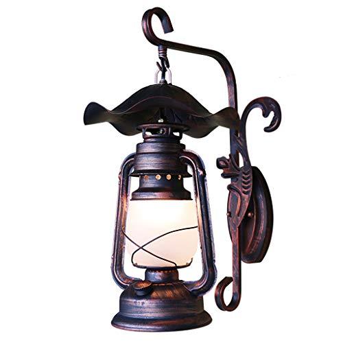 SLH Américain Rétro Applique En Fer Forgé Allée Antique Lanternes Ancienne Lampe À Kérosène Couloir Creative Lampe