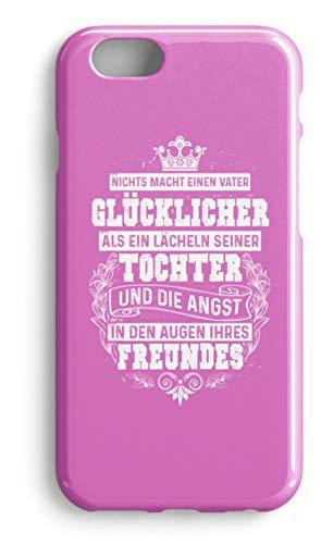 shirt-o-magic Handyhülle Vater: Tochter lächelt, Freund ängstlich - Case -iPhone 8 Plus-Pink