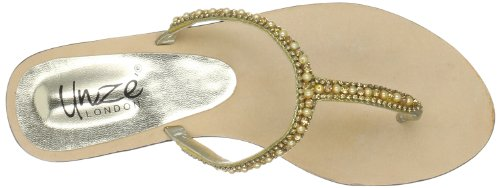 Unze Evening Slippers, Sandali donna Oro (Gold (L18337W))