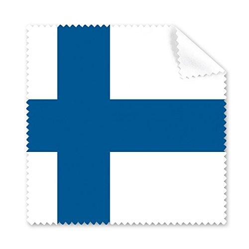 Finnland National Flagge Europa Country Symbol Mark Muster Brille Reinigungstuch Reinigungstuch Handy-Display von 5x