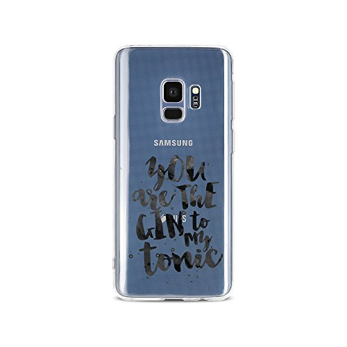 licaso Samsung S9 Handyhülle Smartphone Samsung Case aus TPU mit You Are The Gin to My Tonic Love Print Motiv Slim Design Transparent Cover Schutz Hülle Protector Soft Aufdruck Lustig Funny Druck
