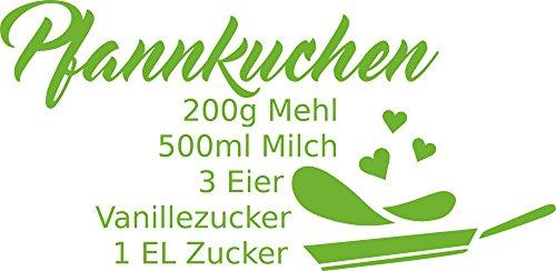 GRAZDesign Aufkleber für Fliesen Küche Pfannkuchen - Aufkleber für Küche Rezept - Aufkleber...