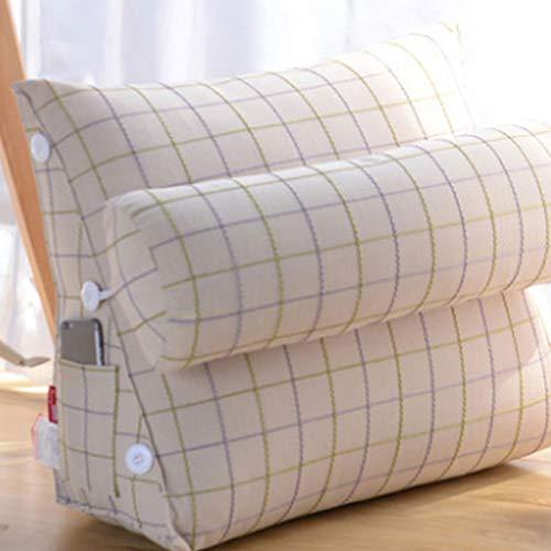 Dekorativer Kissenbezug Einstellbare Dreieck Zurück Keil Kissen Kissen Schlafsofa Bürostuhl Rest Kissen Dekokissen (L45cm * W22cm * H50cm) 3.27 (Farbe : C)