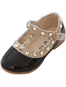 Bailarinas con Punta Cerrada para Niñas,Princesa Sandalias Jalea Fiesta Zapatos Escolares Mary Jane
