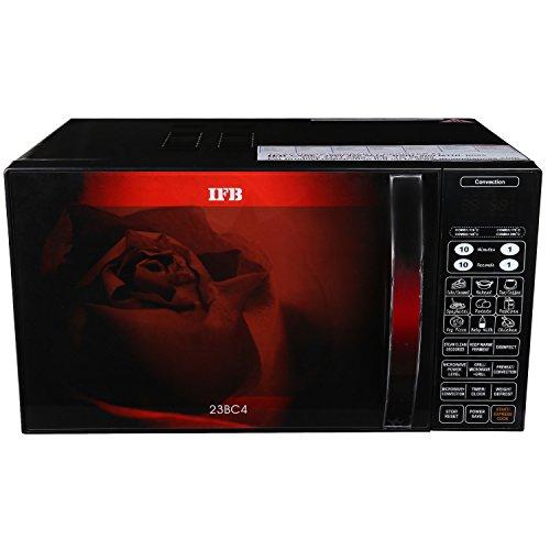 IFB 23BC4 23-Litre Convection Microwave Oven (Black/Floral Design)