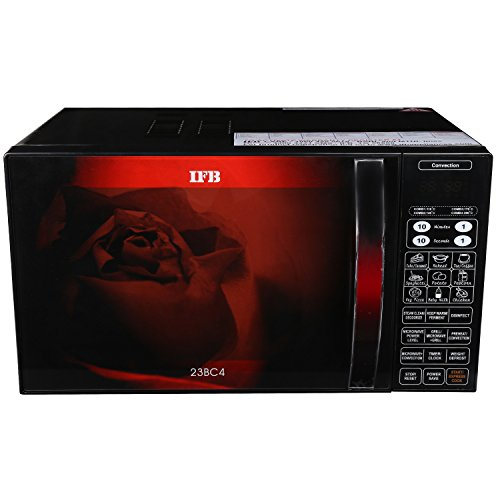 IFB-23BC4-23-Litre-Convection-Microwave-Oven-BlackFloral-Design