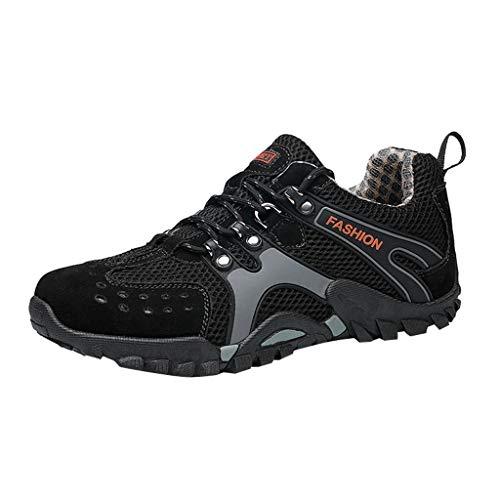 Lucky Mall Herren Sommer Mesh atmungsaktiv Wanderschuhe, stoßdämpfende Reiseschuhe rutschfeste Turnschuhe leichte Wanderschuhe Freizeitschuhe Sportschuhe - Fahrer Leichte Sandalen