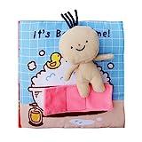 Toyvian Stoffbuch Baby It's Bath Time Weiches Bilderbuch Pädagogische Spielbuch Stoffspielzeug
