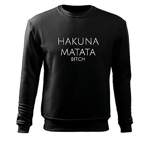 OwnDesigner hakuna matata Muscle Pullover Shirt Feinripp - Sleeveless T-Shirt - 950% Baumwolle - Einlaufvorbehandelt - original (2.0t Katze)