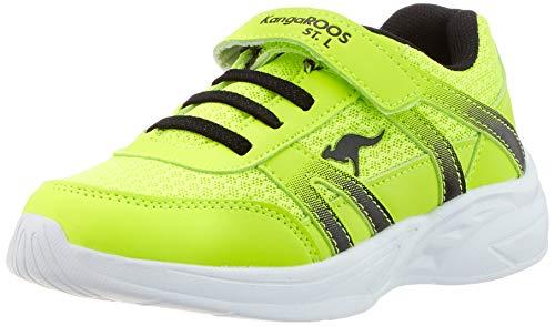 KangaROOS Unisex-Kinder Inko EV Sneaker, Gelb (Neon Yellow/Jet Black 7013), 31 EU