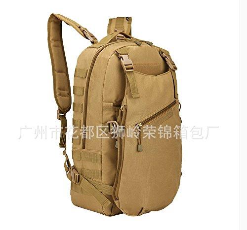 Outdoor zaino Travel Pack Escursionismo camp per uomini e donne borse tracolla 50*32*23cm, jungle camouflage Colore di fango