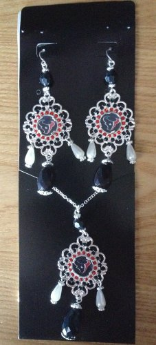 nfl-houston-texans-baroque-necklace-and-earring-set-black