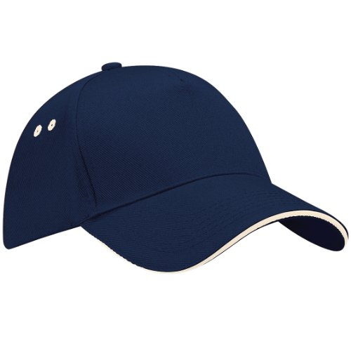 Beechfield - Casquette 100% coton - Unisexe, Bleu - French Navy/Putty, taille unique