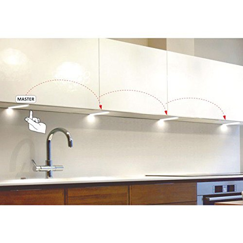 LED Küche Unterbauleuchten KIRA, 1-6er Komplett-Sets in neutralweiß (3er Set)