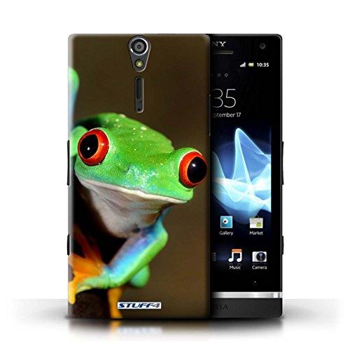 Gedruckt Schutzkoffer Schutzhüllen / Hülle für Sony Xperia S/LT26i / Frosch Muster / Wilde Tiere Kollektion Belkin Mp3