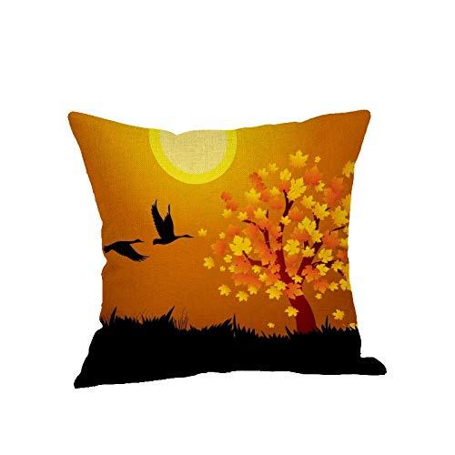 MEIMING1314 Kissenbezug,Hauptdekoration für Wohnzimmer Schlafzimmer Sofa Dekoration-Europa Und Amerika Halloween Vintage Leinen ohne Kern 45 * 45cm A2