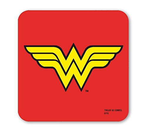 Wonder Woman Untersetzer - DC Comics - Superheldin - rot - Lizenziertes Originaldesign - LOGOSHIRT (Wonder Authentisch Kostüm Woman)