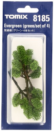 TOMIX N Gage Evergreen Tree (Green/Set of 4) (Tomy Tech PlaRail Model Train) (japan import)