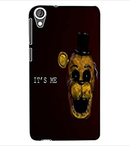 ColourCraft Funny and Scary Monkey Design Back Case Cover for HTC DESIRE 820