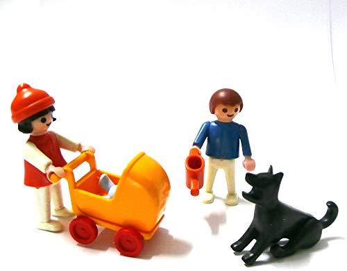 Playmobil ® 2 Mädchen/Schwestern gehen mit dem Puppenwagen spazieren