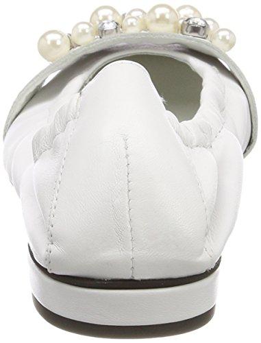 Kennel und Schmenger Damen Malu Geschlossene Ballerinas Weiß (Weiß/Pearl)