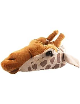 Tierhausschuhe Plüsch Tier Hausschuhe Giraffe kuschelig edel Pantoffel Plüschtier Schuhe Puschen Damen Herren,...