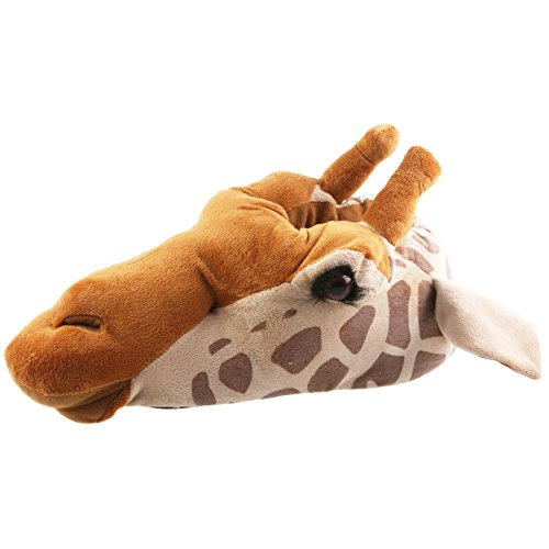 Tierhausschuhe Unisex Hausschuhe Giraffe, Braun, 47/48, TH-Gira