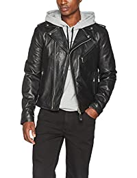 Schott NYC Men's LC1140 Leather Long Sleeve Jacket