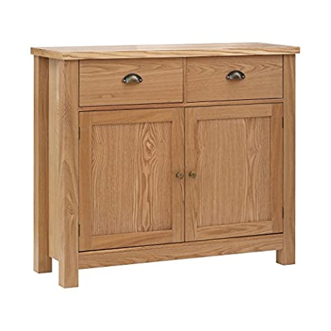 Premier Housewares Westbury Sideboard, Oak/Wood - Natural