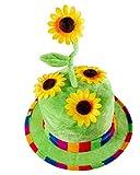 Horror-Shop Sonnenblumen Faschingshut aus Samt als Gärtner Kostümzubehör