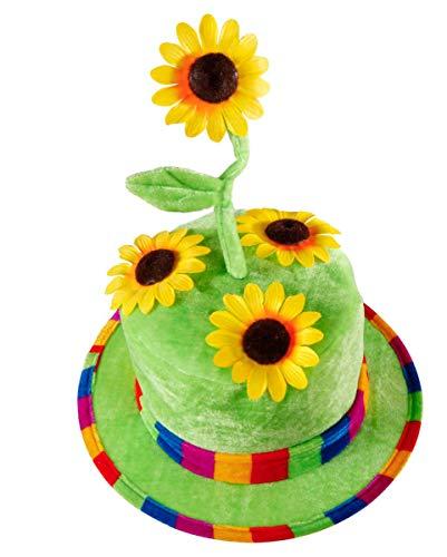 Horror-Shop Sonnenblumen Faschingshut aus Samt als Gärtner - Farmer Hut Kostüm