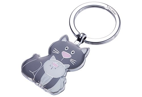Troika Cat & Kitty Llavero 8 Centimeters Gris Grau