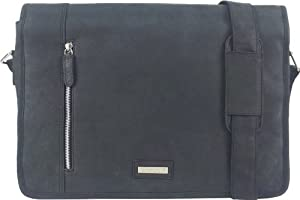 Unicorn Real Leather 164 Laptop Bag Messenger Black 2k
