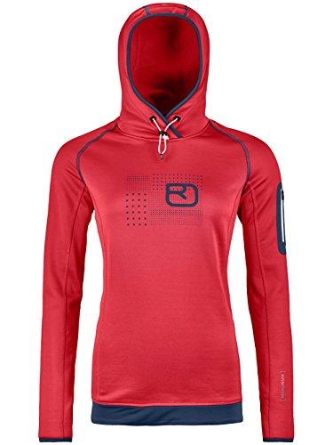 Ortovox Damen Fleece Logo Hoody W Jacket, Hot Coral, XS