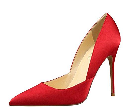Wealsex spitze damen pumps stiletto high heels Rot