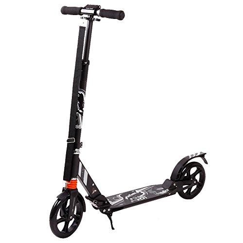 FunTomia Kick Scooter ALU City Roller Tretroller Große Big Wheel 200mm Rollen/Reifen Kinderroller mit Mach1 Kugellager klappbar Kickscooter 100kg Belastbarkeit