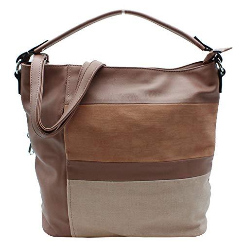 MISEMIYA - Borsa a Mano Donna Pochette e Clutch Borse a mano e a spalla mano borsa SR-J565(37 * 33 * 16) - Rosa