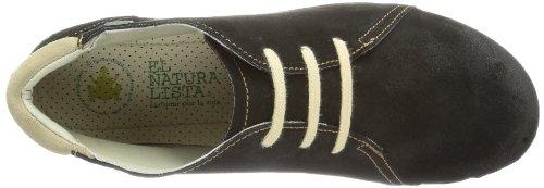 El Naturalista N989 Lux Suede Vaquero / Angkor, Chaussures à lacets Femme Schwarz (Black)